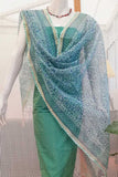 Beautiful Brushed Block Printed Kota Doria Dupatta