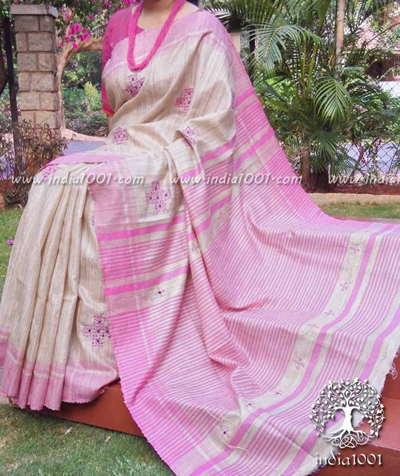 Geecha silk saree with embroidered Kolam art