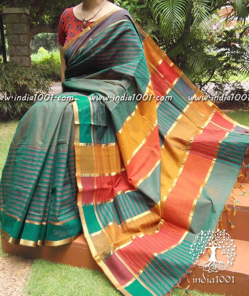 Fine & Elegant Mangalgiri Cotton Saree with Zari border