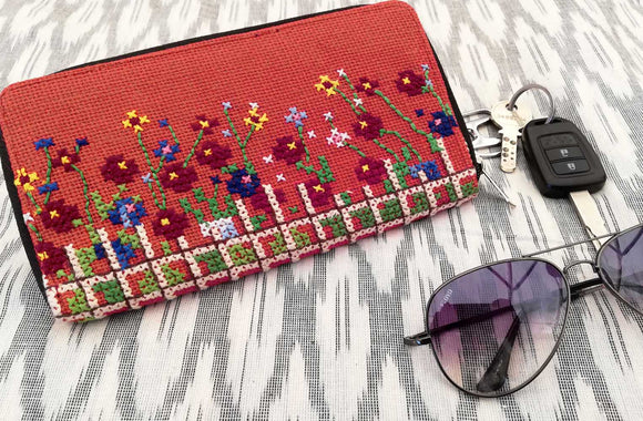 Handcrafted Jute  Wallet with zipper