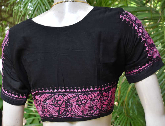 Cotton Blouse with Hand embroidery  - size 42