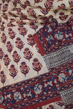 Beautiful Hand Block Printed Mul Cotton Saree from Gujarat ( without BP)
