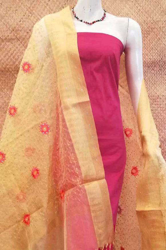 Elegant Organza dupatta with Embroidery & stone work