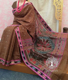 Elegant Woven Cotton Jagatsinghpur Saree ( without BP)