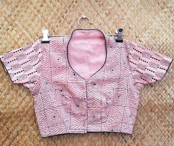 Cotton Blouse with Hand Embroidery