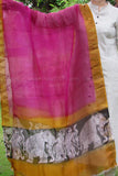 Fine Block Printed Kota Silk Dupatta with Woven Border