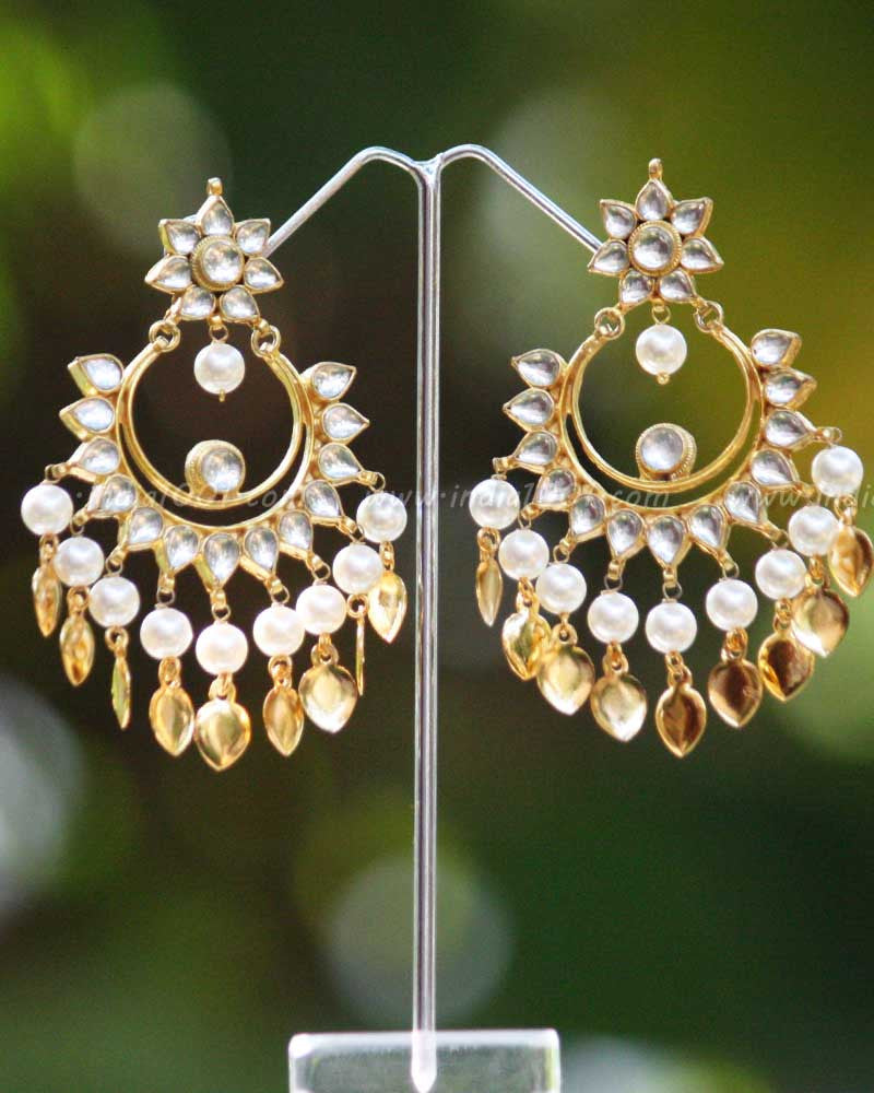 Designer Kundan & Pearl Earrings