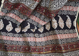 Elegant Chanderi Saree with Kalamkari Hand Block Printing