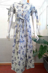 Elegant Khadi Cotton  Long Dress