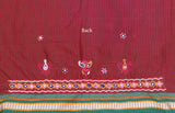 Beautiful Khunn Blouse Fabric with Kutch Hand Embroidery ( 1.5 mtr)
