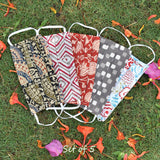 Set of 5 - Block printed Cotton Masks