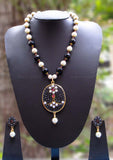 Elegant Beads, Pearl & Polki Necklace Set