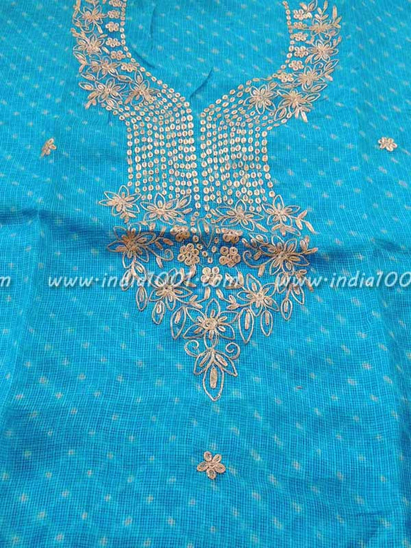 Kota Silk Kurta with Pitta  / Gota patti Work