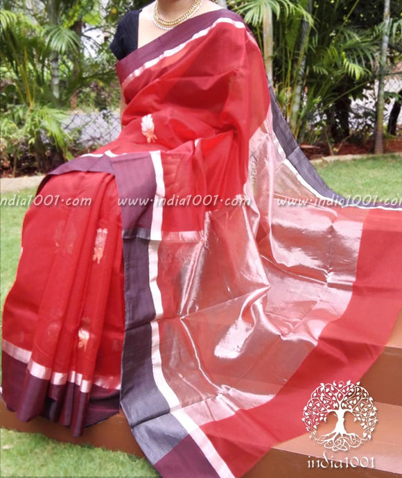 Designer Handwoven Chanderi Saree