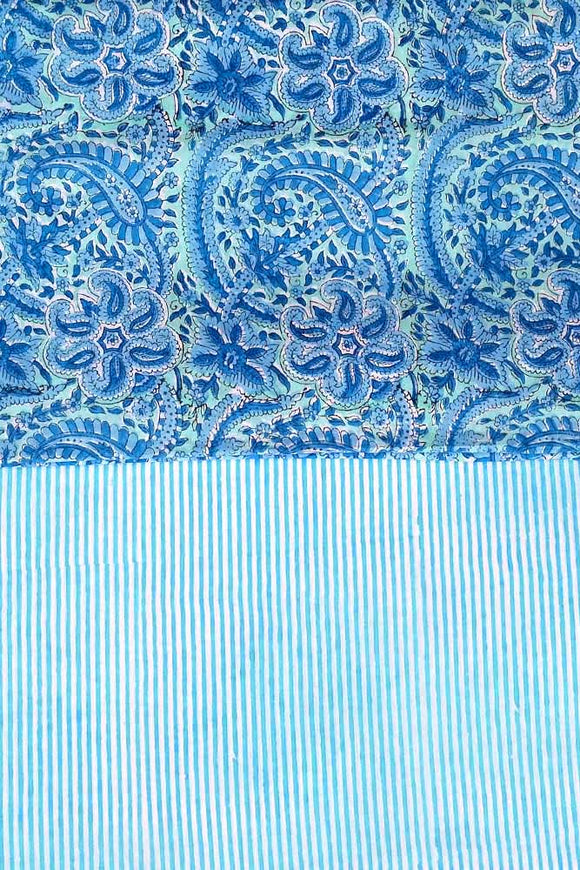 Hand Block Printed Cotton Running Fabric combo ( 2 fabrics *2.3)
