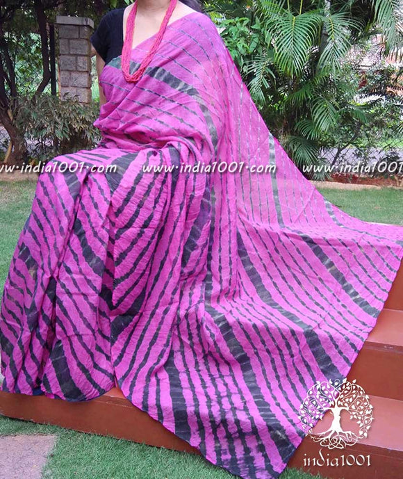 Beautiful Kota Doria Saree with Leheriya Dyed Pattern ( without BP)