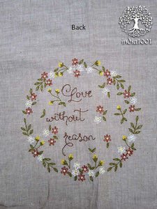 Hand embroidered cotton blouse Fabric