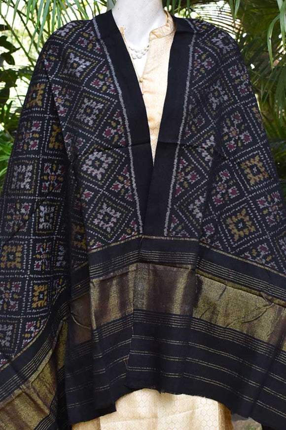 Beautiful Handwoven Single Ikat Patola Woolen Shawl