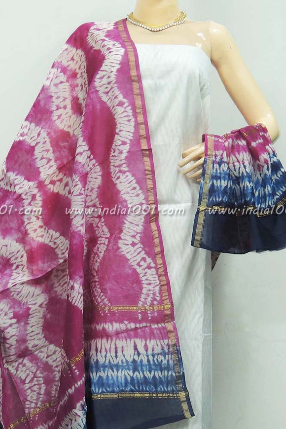 Beautiful Shibori Chanderi Cotton Dupatta