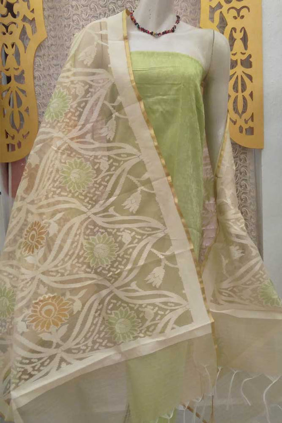Elegant Supernet Dupatta with woven patterns