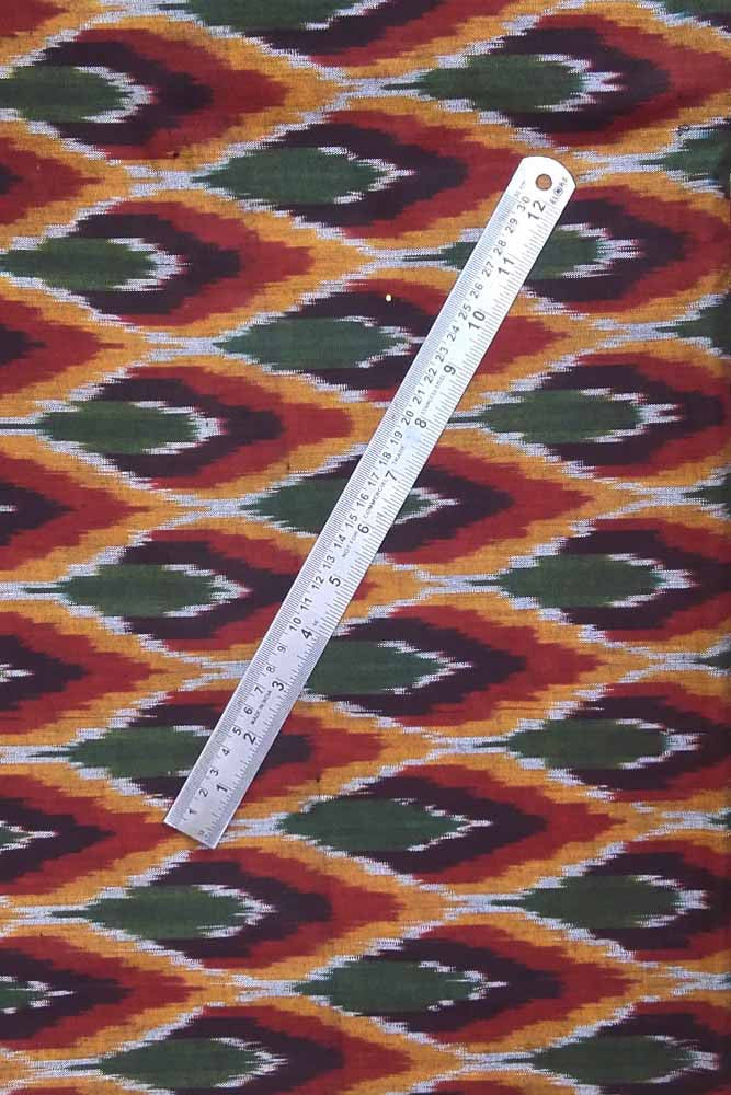 Woven ikkat cotton  fabric