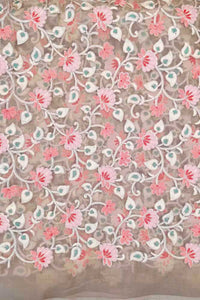 Organza Fabric with embroidery & zari work