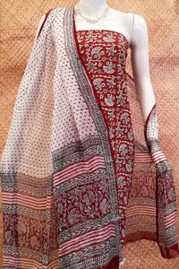 Classic Bagh Block Printed unstitched suit fabric
