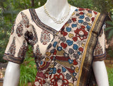 Ajrakh Cotton Blouse with all over Sequins  - Size 36