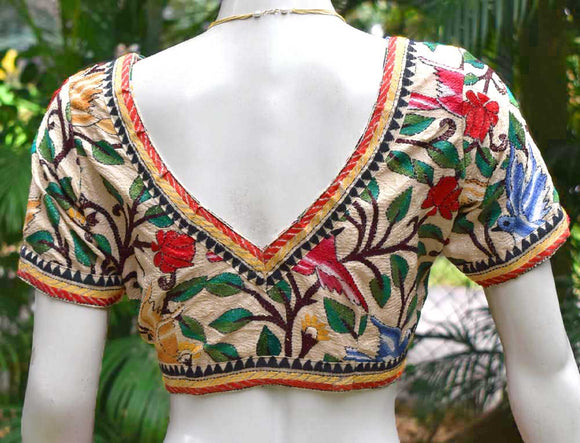 Hand Embroidered Nakkshi Kantha  Blouse Size - 40