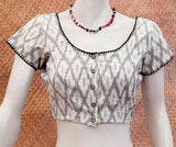 Cotton Blouse with Hand Embroidery - Size - 38