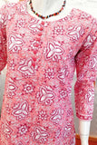 Elegant Block Print Cotton Kurta  & bottom - Size - 36, 38