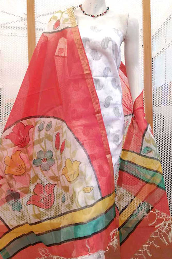 Designer Hand Painted Kota Silk cotton Dupatta