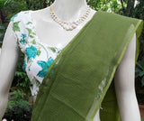 Sleeveless Block Printed Cotton Blouse - size - S - 38