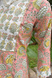 Block Printed Cotton Kurta with gota work & embroidery