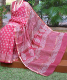 Beautiful Hand Block Printed Kota Silk Saree