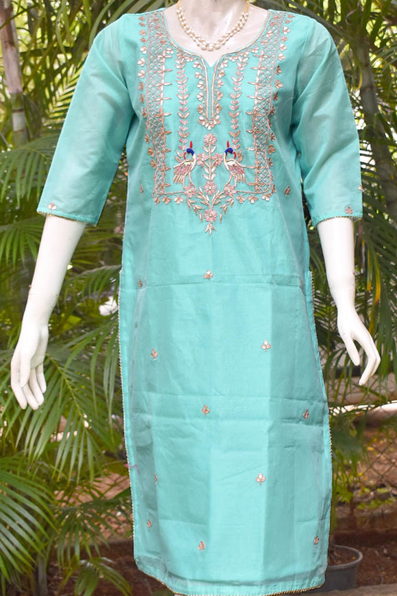 Elegant  Chanderi Kurta with Hand Embroidery - All sizes