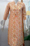 Elegant cotton Block Printed  Long Kurta