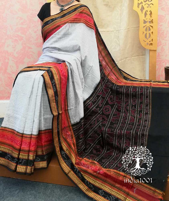 Woven Sachipar Cotton Saree from Orissa ( without bp)