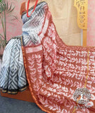 Elegant Chanderi Saree with Shibori Dyeing