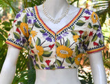 Hand Embroidered Kantha  Blouse Size - 38 , 40