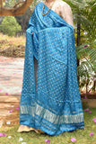 Beautiful Hand Crafted Bandhani Modal Silk Dupatta with Tissue palla