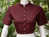 Cotton Blouse with Collar -  Size  - 36, 40, 42