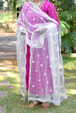Beautiful Net dupatta with embroidery