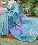 Beautiful Handcrafted Leheriya Tussar Silk Saree