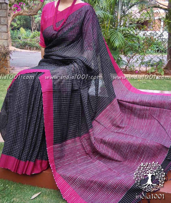 Elegant Woven Fulia Cotton Saree with missing weave