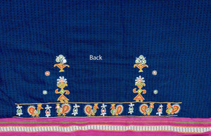 Beautiful Khunn Blouse Fabric with Kutch Hand Embroidery