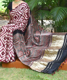 Beautiful Hand-Crafted Modal Silk Ajrakh & Shibori Saree with Tissue palla