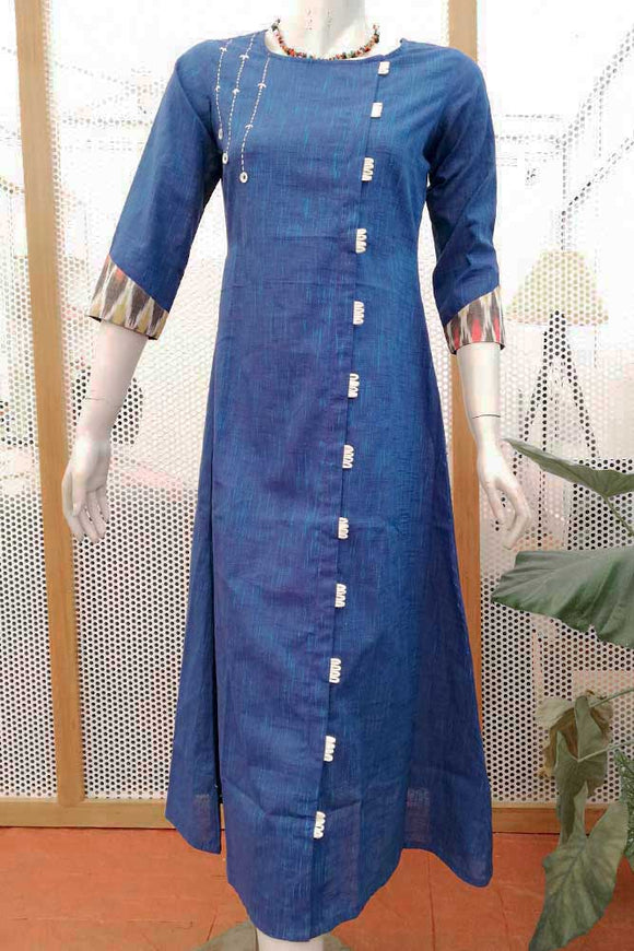Elegant Cotton Long Kurta/ dress