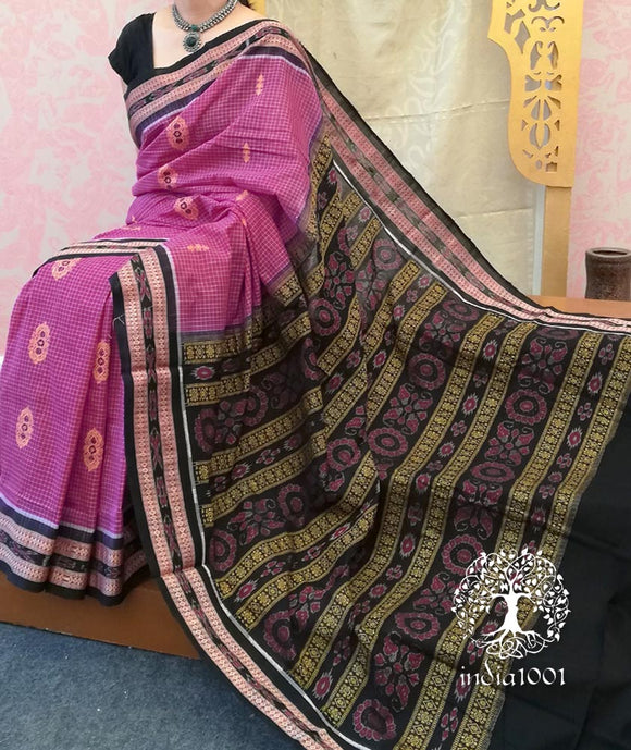 Woven Sachipar-Bomkai Cotton Saree from Orissa ( with bp)