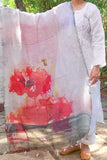 Elegant Linen Cotton dupatta with Digital prints